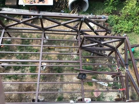 Терраса на металлокаркасе