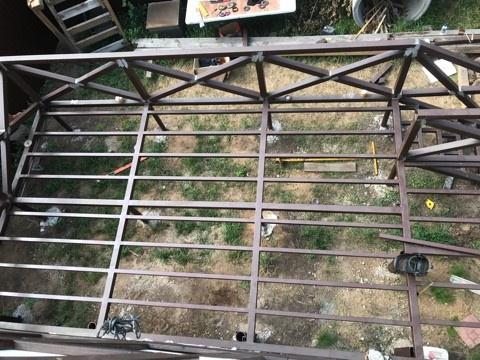Терраса на металлокаркасе в Самаре
